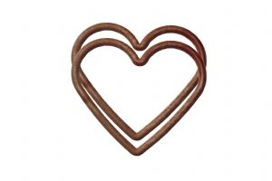 1 Pair 15cm x 11cm Large Heart Shape WOOD EFFECT Plastic Bag Purse Handles. S7834